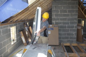 Roger Bisby fitting a Keylite Roof Window